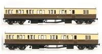 Dapol LHT-600 Suburban B 2 Coach Set GWR Bristol Division 16 C/Cream