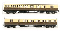 Dapol LHT-601 Suburban B 2 Coach Set GWR Kingsbridge Branch 2 C/Cream