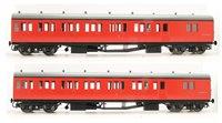 Dapol LHT-603 Suburban B 2 Coach Set BR Bodmin 1 Crimson