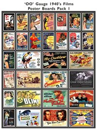 1940's Film Poster Boards Pack 1