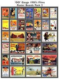 1950's Film Poster Boards Pack 2