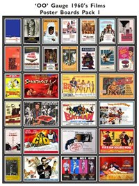 1960's Film Poster Boards Pack 1