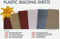 Plastic building sheets - 4 Pack (brick large beige)