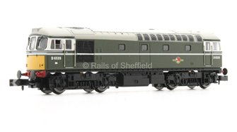 Class 33/0 #D6539 BR Green Small Yellow Warning Panel - DCC Fitted
