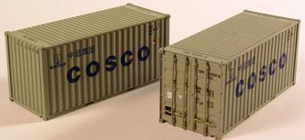'Cosco' 20ft Containers (Pair)