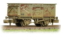 N Scale 16 Ton Steel Mineral Wagon BR Grey Weathered