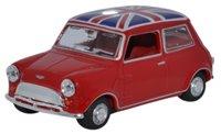 Oxford Diecast 43MIN023 Mini Car Tartan Red/Union Jack