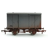 Dapol 4F-011-020 12-ton ventilated van M183312 in BR grey - weathered