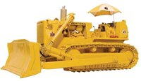 International TD-25 Crawler with Blade, Hitch & Umbrella