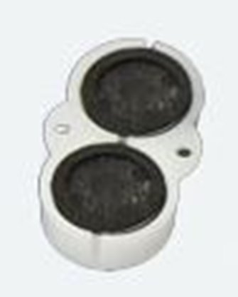Two loudspeakers 13 mm, round,8 Ohms,  1~2W with sound chamber - Loksound 4.0/Micro 4.0