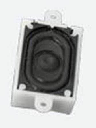 Loudspeaker 16mm x 25mm, rectangle, 4 Ohms with sound chamber - Loksound 4.0/Micro 4.0