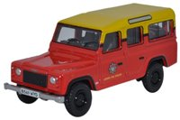 Oxford Diecast 76DEF011 Land Rover Defender Station Wagon - London Fire Brigad