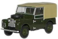 Oxford Diecast 76LAN188009 Bronze Green Land Rover 88'' Canvas