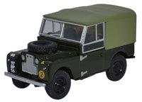 "Oxford Diecast 76LAN188020 Land Rover Series 1 88"" Canvas REM"