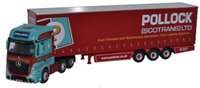 Oxford Diecast 76MB002 Mercedes MP4 GSC Actros Curtainside Pollock