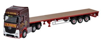 Oxford Diecast 76MB003 Mercedes Actros GSC Flatbed Trailer J R Adams