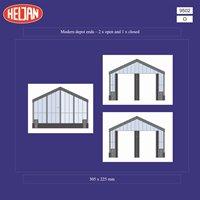 """Heljan 9502 O Gauge Modern Depot """"Ends"""""""