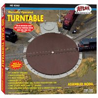 Atlas 305 HO Gauge Manually Operated Turntable - Nickel Silver