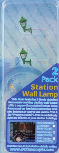 DCC Concepts H-DML-WLBR   Station Wall Lamps - SR/BR (DCP012)