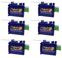 DCC Concepts DCP-CB6DIP  COBALT ip Slow Action Digital Point Motor (6 Pack)