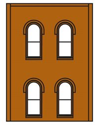 Two Storey Arched 4 Windows