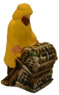 Fisherman in Yellow Oilskins with creel