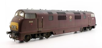 Custom Finished O Gauge Class 42 Warship 'Zest' D869 BR Maroon Weathered Diesel locomotive