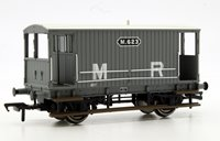 Midland 20T Brake Van Midland Railway Grey (without Duckets)