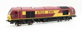 Hornby R3481 EWS Bo-Bo 'Western Star' '67025' Class 67 Locomotive