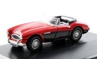 Oxford Diecast Austin Healey 3000 Colorado Red/Black