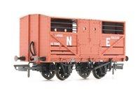 Oxford Rail OR76CAT002B Cattle Wagon - LNER E156226