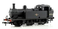 OO Scale Fowler Class 3F 0-6-0 (Jinty) 47673 BR Black Late Crest Weathered