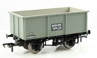 27 Ton Steel Tippler Wagon BR Grey 'Iron Ore'