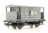 Midland 20T Brake Van LMS Grey (with Duckets)