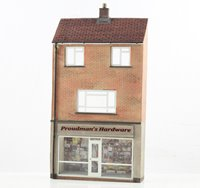 OO Scale Low Relief Hardware Store with Maisonette