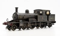 Oxford Rail OR76AR002(W) Adams Radial 4-4-2T 30584 in BR early black Locomotive *Weathered*