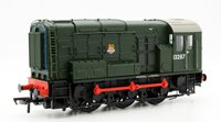 OO Scale Class 08 13287 BR Plain Green Early Emblem