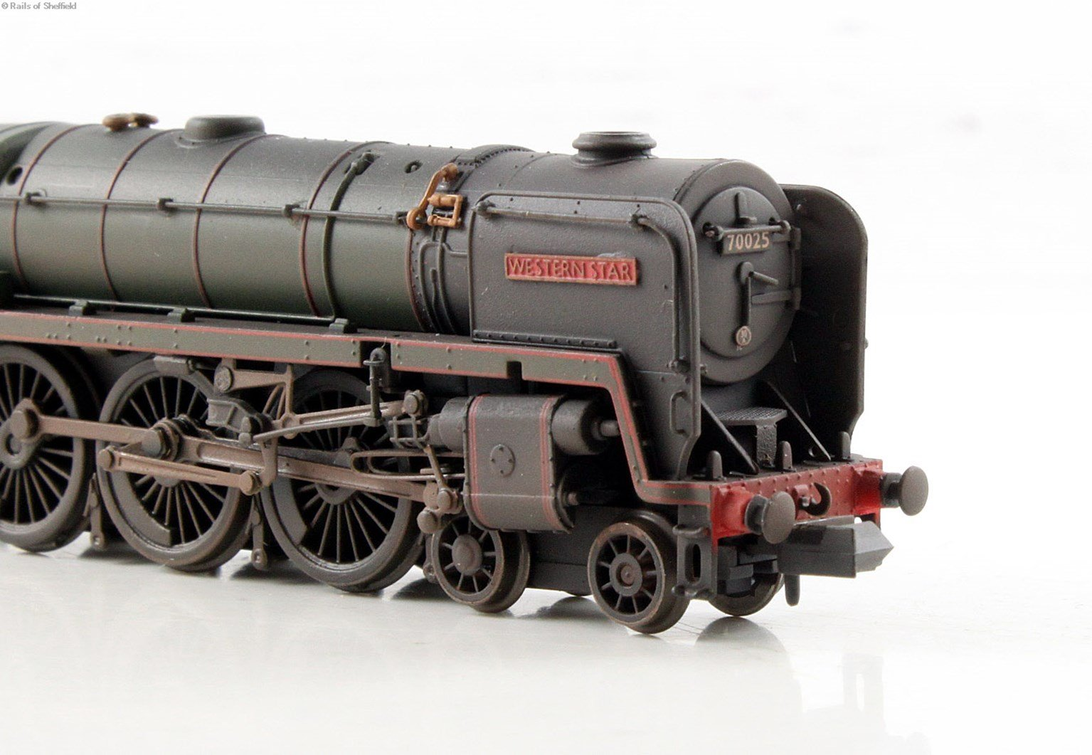 """Class 7MT Britannia 4-6-2 #70025 """"Western Star"""" in BR green with late crest - weathered - DCC Fitted"""