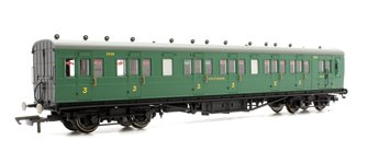 SR 58' Maunsell Rebuilt (Ex-LSWR 48') Six Compartment Brake Third Coach '2628', SR Green