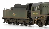 Custom Finished BR 4-6-2 Rebuilt Battle of Britain '603 Squadron' Loco 34077 Weathered