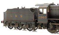 Custom Finished Stanier Mogul LMS Lined Black 2-6-0 Locomotive 2965 Weathered