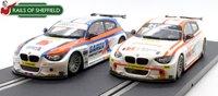 C3735/C3784 Pair of BTCC BMW 125 Series 1 - BTCC 2015 Slot Cars