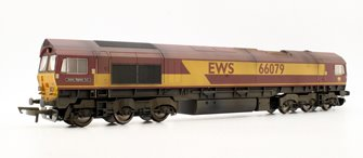 Custom Finished Class 66 079 'James Nightall GC' EWS Diesel Locomotive Weathered