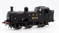 LNER Black 0-6-0T J50 Class Locomotive #635