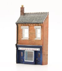 N Scale Low Relief Fish and Chip Shop