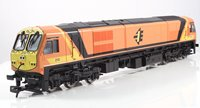 Class 201 Diesel Locomotive 'River Erne' #210 Orange/Yellow Livery Full Yellow Ends
