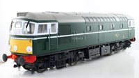 Heljan O Gauge 26701 Class 26 BR Green with Small Yellow ends Diesel Locomotive