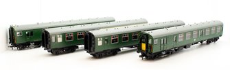 Class 411 4CEP 4 Car EMU 7122 BR(SR) Green Small Yellow Warning Panel