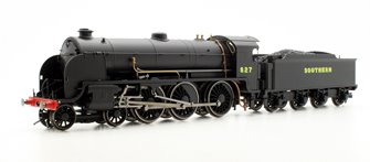 Southern Black 4-6-0 '827' Maunsell S15 Class Locomotive #827