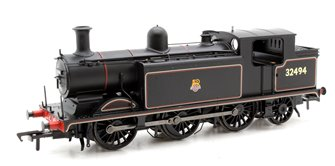 Class E4 BR Lined Black Early Emblem 0-6-2 Tank Locomotive 32494 - FREE UK POST